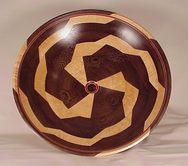 Wenge and Birdseye Maple Bowl 716