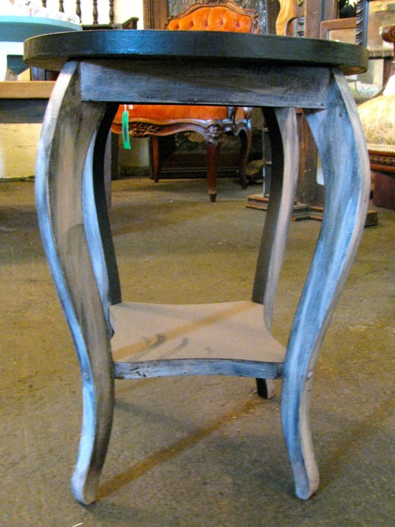 SilverFox Salvage's Hand Painted Eye Table